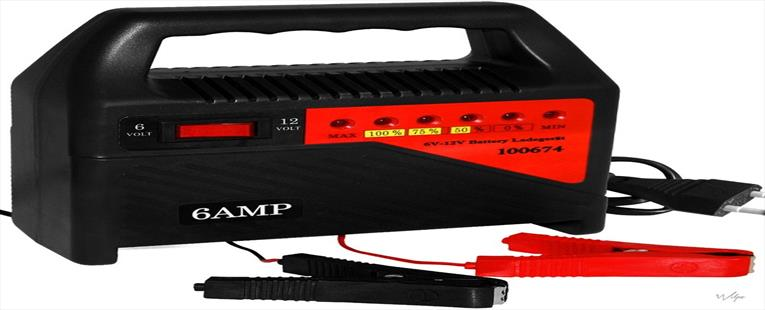 Professionele Acculader 6V en 12V - Battery Charger