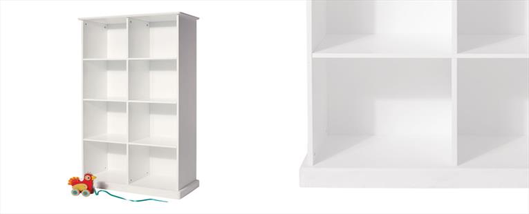 Abbeville Eight Cube Storage - White