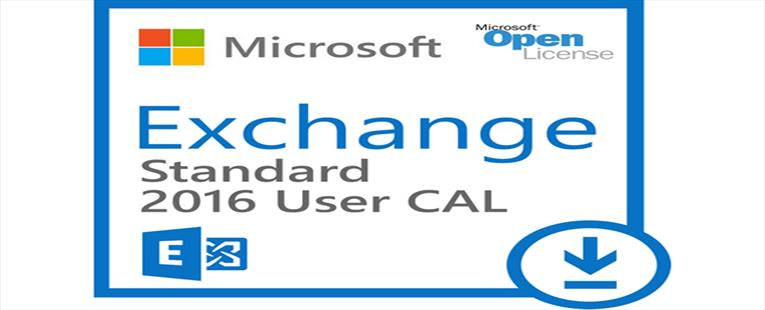 Microsoft Exchange Server 2016 Standard CAL - License - 1 user CAL - MOLP: Open Business - Win - Single Language
