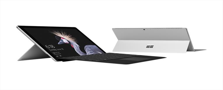 "Microsoft Surface Pro HGH-00001 Intel Core i5 7th Gen 4 GB Memory 128 GB SSD Intel HD Graphics 620 12.3"" Touchscreen 2736 x 1824 Detachable 2-in-1 Laptop Bundle with Black Type Cover Windows 10 Pro 64-Bit"