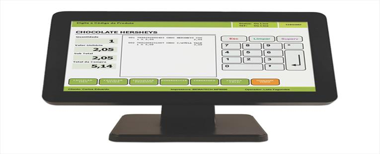 "Bematech LE1015W Black 15"" USB Resistive Touch Monitor - 15"" Wide Screen, True-flat, Resistive Touch, USB"
