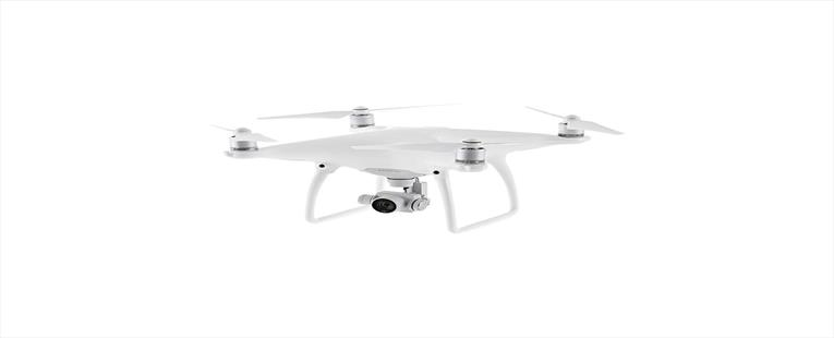 DJI Phantom 4 Quadcopter Drone with Camera & Controller (CP.PT.000312) - White