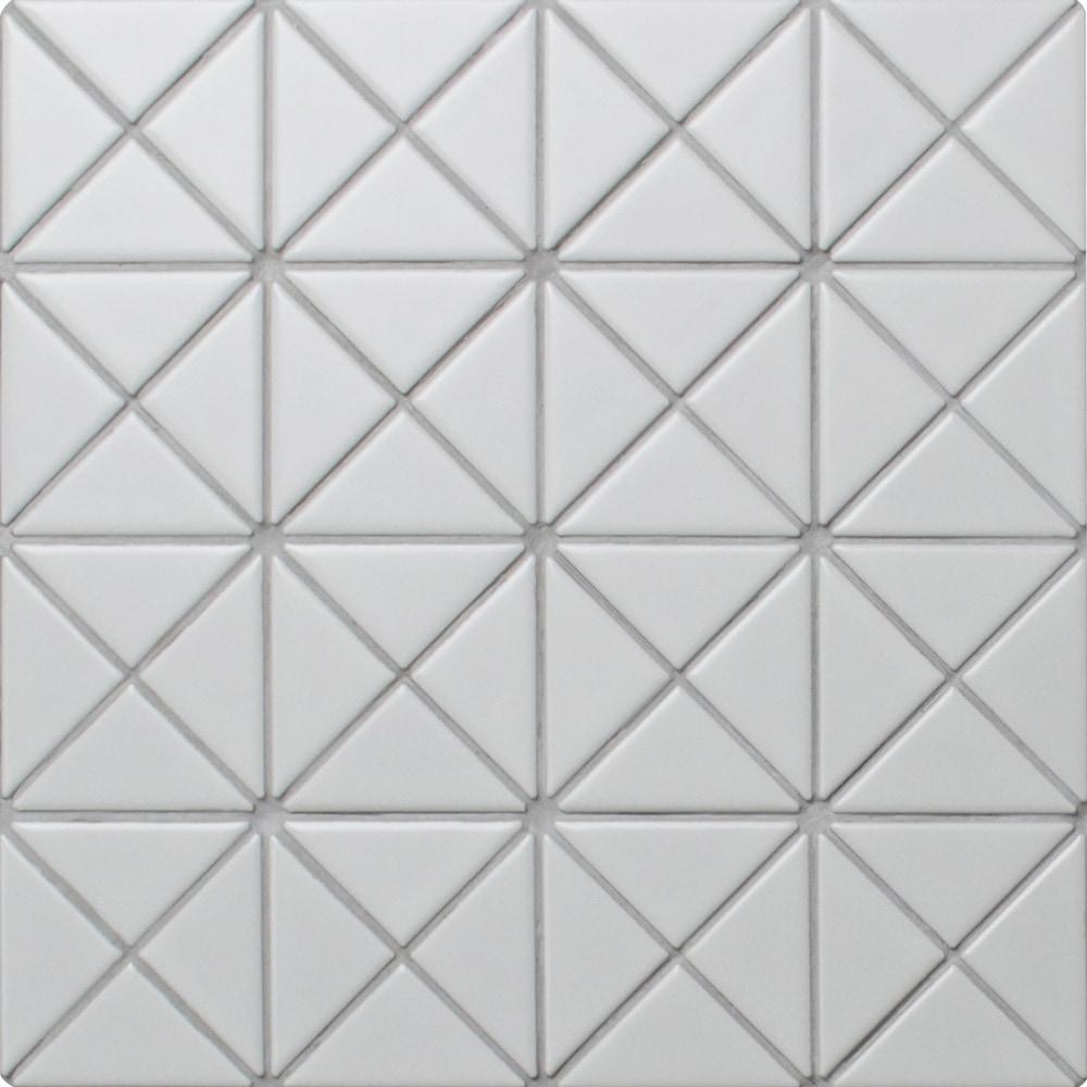 ANT TILE Triangle Porcelain Mosaic Tile