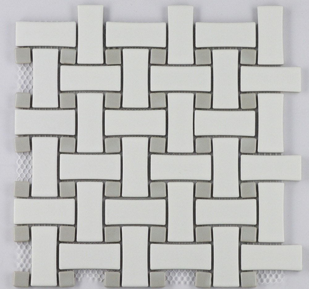 COSMOPOLITAN Porcelain Mosaic Basketweave Pattern