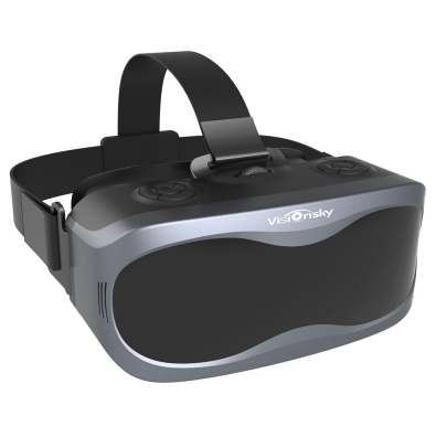 Black Visionsky V3 5.5 inch 2K 540PPi Panoramic Intelligent VR headset system- WITH A Quad-Core Processors