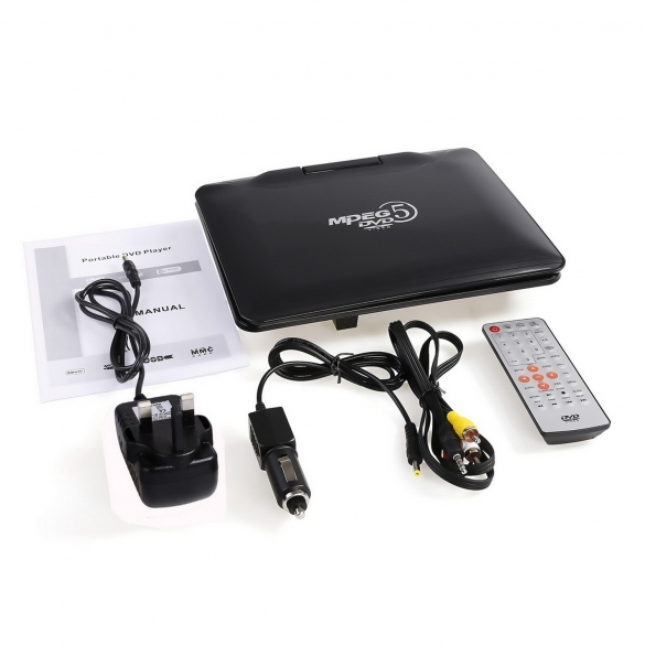 9inch Portable DVD Player Personal Audio Video Swivel