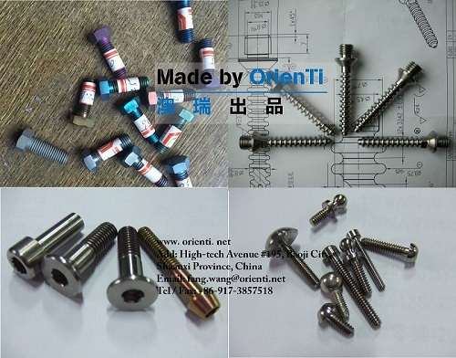 Customized Titanium Bolts