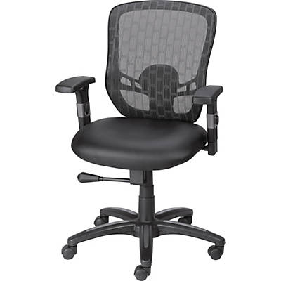 Quill Corvair Luxura Mesh Back Task Chair, Black