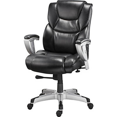 Quill Brand® Denville Bonded Leather Big and Tall Manager's Chair, Black