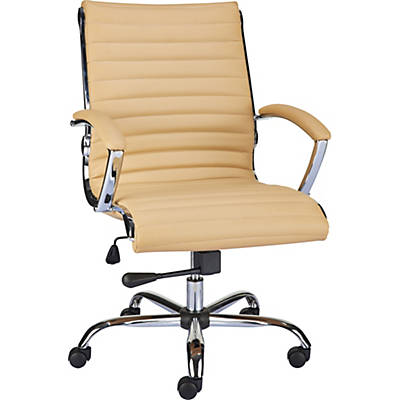 Quill Brand® Bresser™ Luxura Managers Chair, Tan