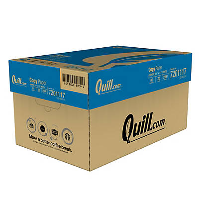 "Quill Brand® Copy Paper; 11 x 17"", Ledger Size, 5 Reams of 500 Sheets"