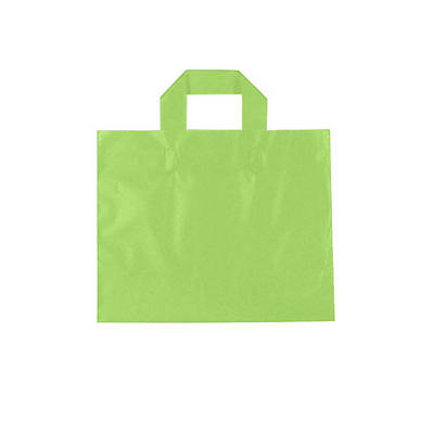 Shamrock Frosted Soft Loop Ameritote Bag; Citrus Green, 12X10X4, 250/case pack