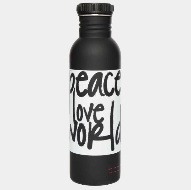 Peace Love World Water Bottle