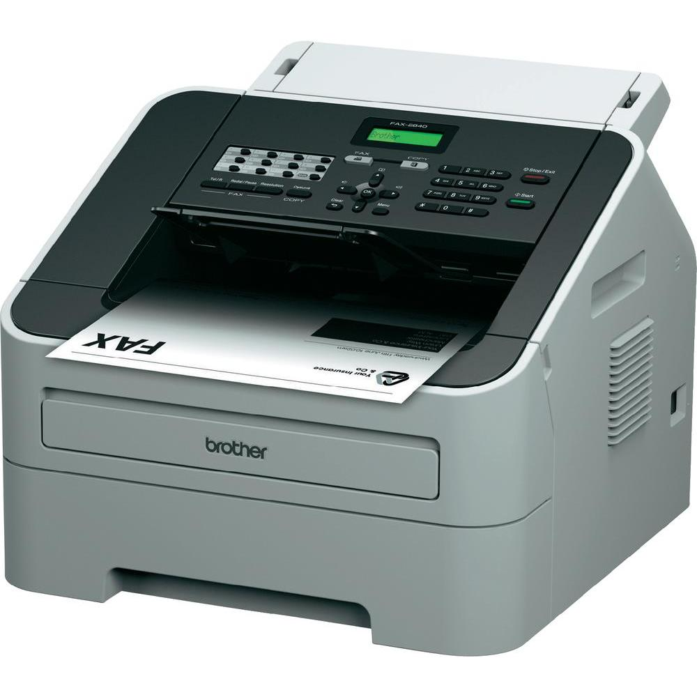Brother FAX-2840, laser fax machine (400 pages page memory, 30 Sheet page/document feed, modem speed)