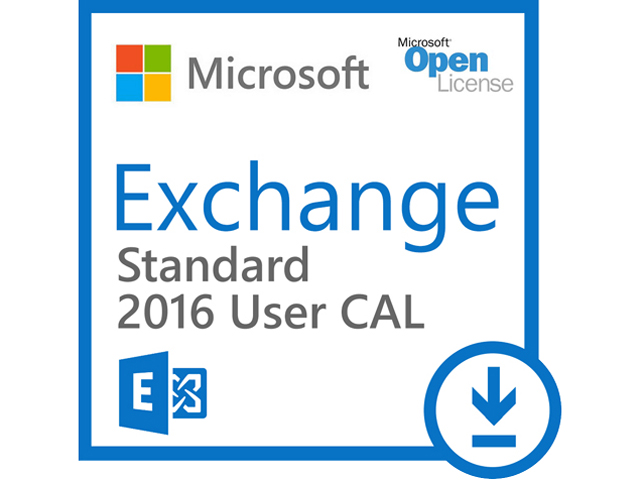 Microsoft Exchange Server 2016 Standard CAL - License - 1 user CAL - MOLP: Open Business - Win - Single Language