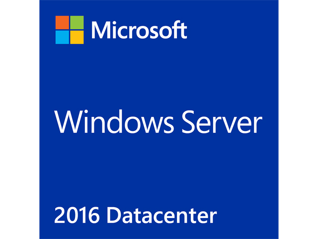 Microsoft Windows Server 2016 Datacenter License and Media 24 Core Box Pack - OEM