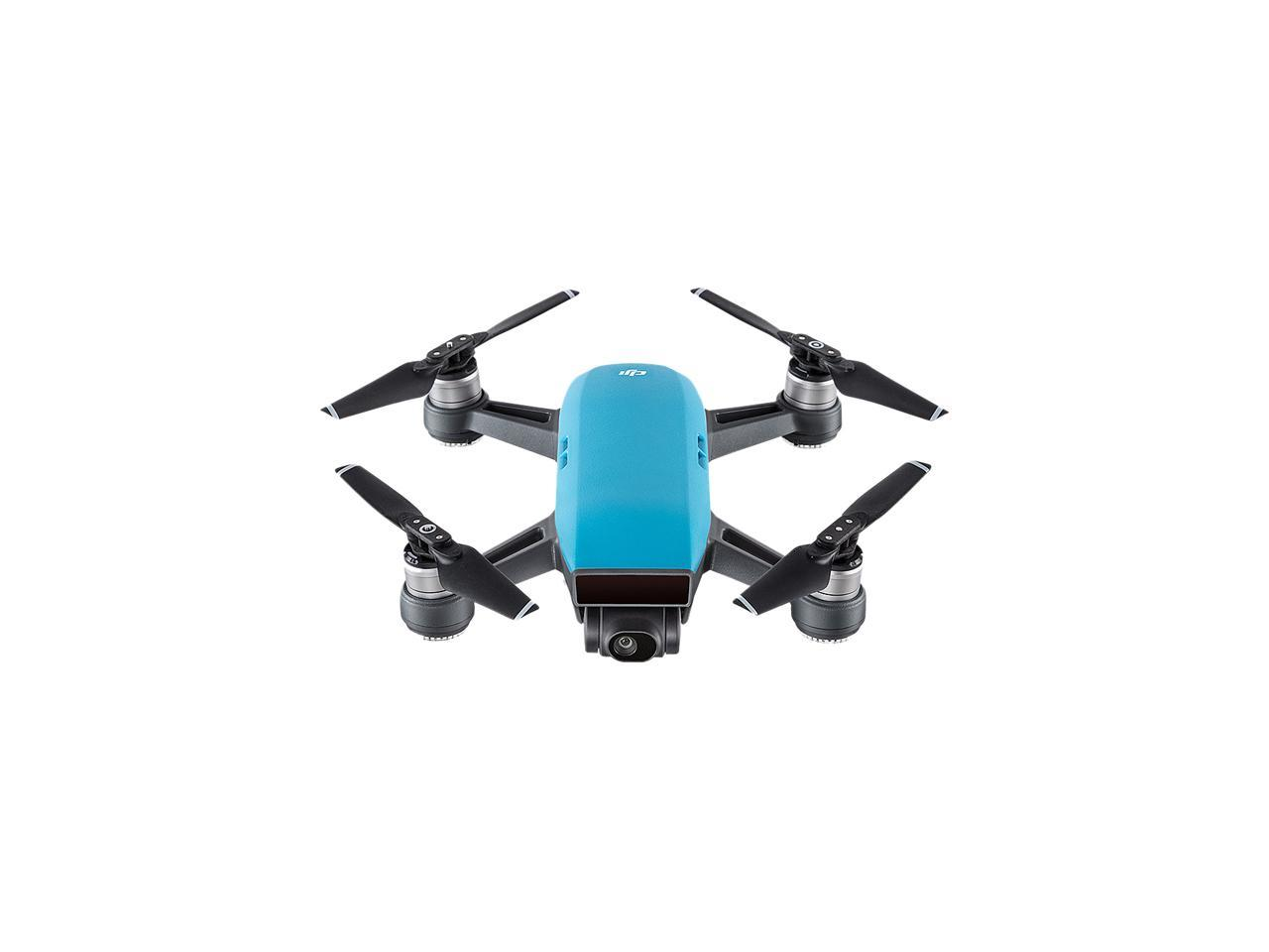 DJI Spark Palm Launch Quadcopter Drone with UltraSmooth Camera, Sky Blue, CP.PT.000733
