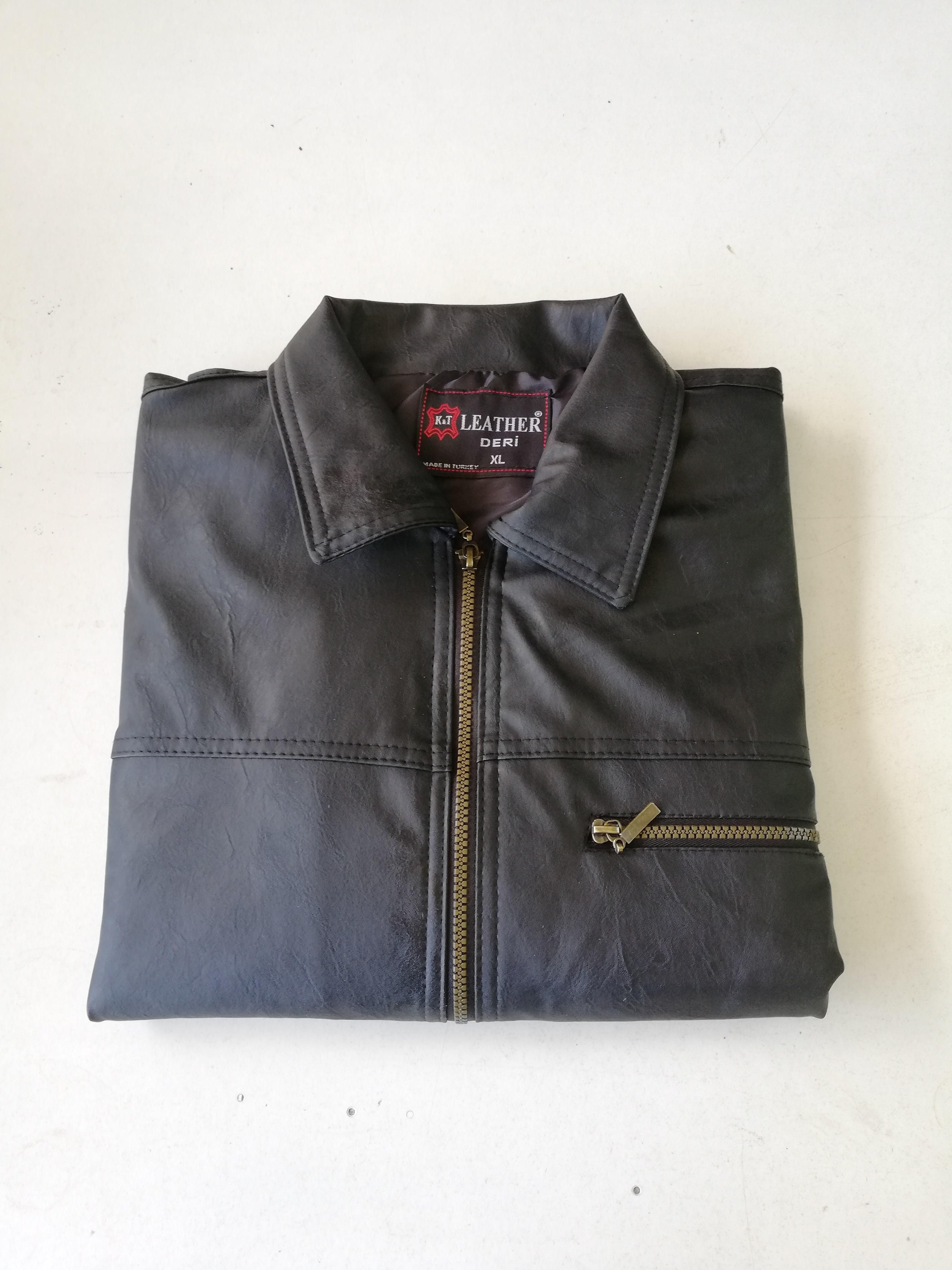 Faux leather male jacket