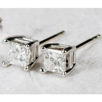 High Quality Cz Silver Earrings (15Pcs Per Lot)