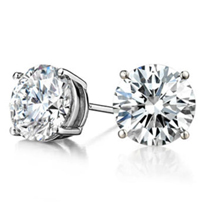 High Quality Cz Silver Earrings (20Pcs Per Lot)
