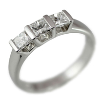 High Quality Cz Silver Ring (10Pcs Per Lot)